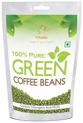 Vihado Pure Arabica Green Coffee Beans - 100g (Pack of 1)