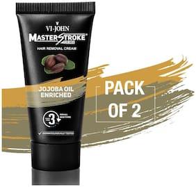 VIJOHN Master Stroke Men Hair Removal Cream jojoba 60g Pack of 2