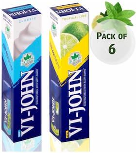 VI-JOHN Shaving Cream Classical Tropical Lime (Each 3)Pack of 6