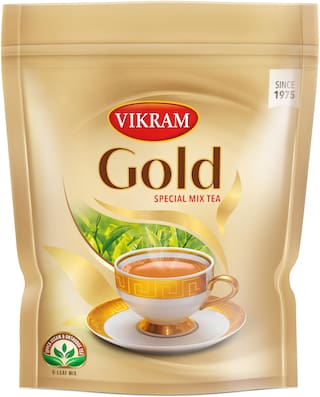 Vikram Gold Special Mix Tea Made With 5 Unique Upper Assam Leaves The Right Balance Of Taste Aroma Color Thick Consistency And Strength 1 Kg (Pack Of 1)