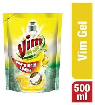 Vim Dishwash Liquid - Lemon 500 ml