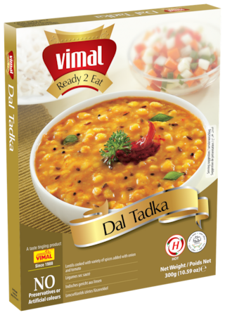 Vimal Ready to Eat Tasty and Spicy Dal Tadka Instant Mix Vegetarian Meal with No Added Preservative and Colours - 300g
