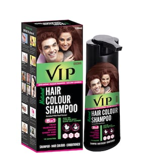 VIP Hair Colour Shampoo Brown 180 ml