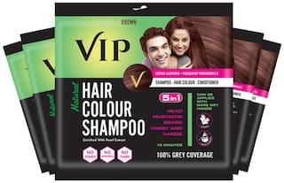 VIP Hair Colour Shampoo Brown 20ml (Pack of 5)