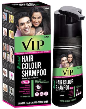 VIP Hair Colour Shampoo Black 180 ml