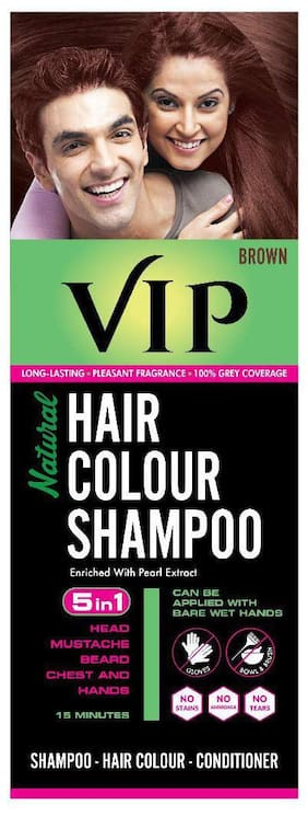 VIP Hair Colour Shampoo Brown 180ml