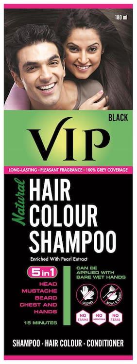 VIP Natural Hair Colour Shampoo 180 ml ( Black)