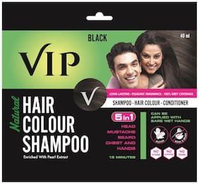 Vip Natural Hair Colour Shampoo 40Ml