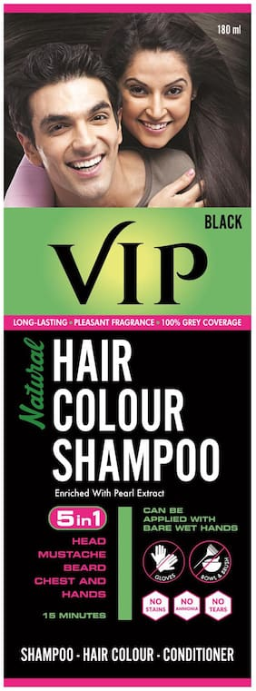 Vip Natural Hair Colour Shampoo 180Ml