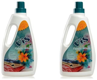 VIS FABRIC WASH LIQUID AND LAUNDRY CLEANER GEL PACK OF 2 (1000 ml each)