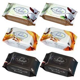Vision Freshmee Wipes  - Honey + Coconut + Deo  ( 30 wipes per pack ) ( Set of 6 Packs )
