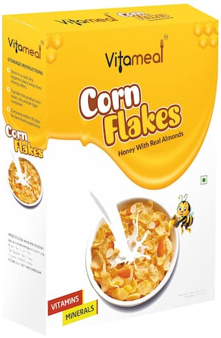 VitaMeal Corn Flakes Honey with Real Almond 400 gm