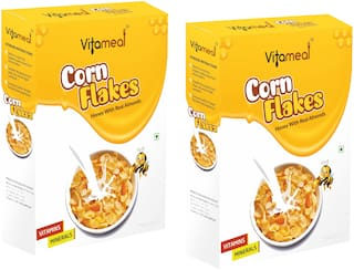VitaMeal Corn Flakes Honey with Real Almonds 400 gm (Pack of 2)