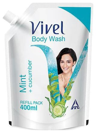 Vivel Body Wash - Mint, Cucumber 400 ml