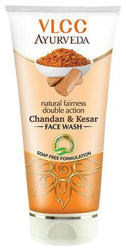 Vlcc Ayurveda Natural Fairness Double Action Chandan & Kesar Face Wash 100 ml