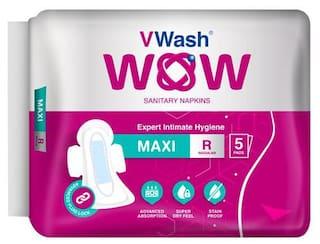 VWash Wow Sanitary Napkin - Maxi, Regular 5's pack