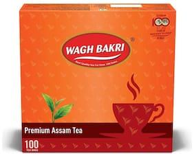 Wagh Bakri Premium Assam Tea 100 Tea Bags (Pack of 2)