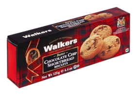 WALKERS -CHOCOLATE CHIP SHORTBREAD BISCUITS 125G