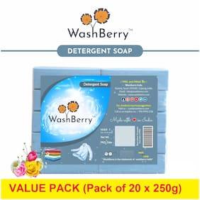 Washberry Blue Detergent Bar 250 g (Pack of 20 )