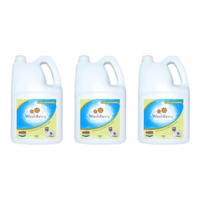 Washberry Detergent Liquid for Top Load /Front Load 5L (Pack Of 3)