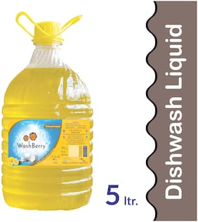 Washberry Dishwash Liquid 5L (Pack Of 1)