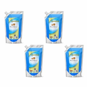 WashBerry Liquid Detergent with New Fragrance 1L (1L = 20 Washes)Pack of 4