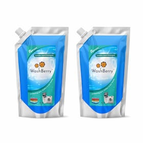 WashBerry Liquid Detergent 1L (1L = 35 Washes)Pack of 2