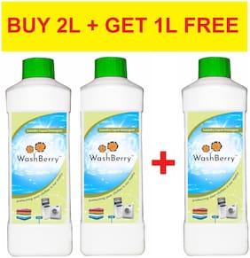 Washberry Liquid Detergent  1 L ( Pack of 2 ) 1 L Free