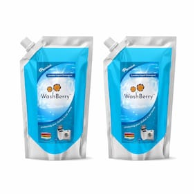 WashBerry Matic Detergent Liquid Top/Front Load 1L Pouch (1L = 50 Washes)Pack of 2