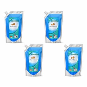 WashBerry Superior Laundry Liquid Detergent 1L (1L = 35 Washes)Pack of 4