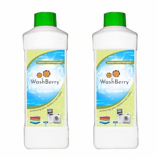 Washberry Top/Front Load Detergent Liquid 1 L (Pack of 2)