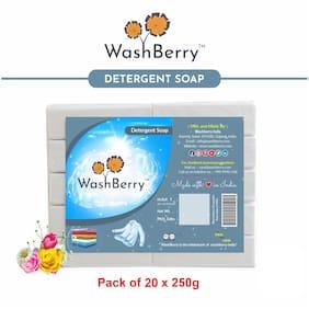 Washberry White Detergent Bar 250g (Pack of 20)
