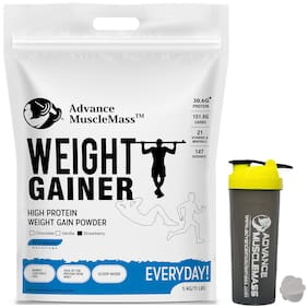 Weight Gainer with Enzyme Blend ( Strawberry Flavour 5 Kg ) With Shaker 700 ml
