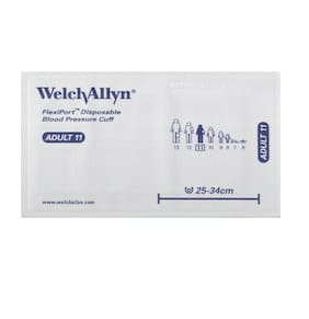 WelchAllyn FlexiPort Disposable Blood Pressure Cuff 1 Tube Adult 11 LOT OF TWO!