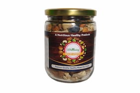Wellbeing Mix Dry Fruits Assorted Dry Fruit Nut Mix with Almonds/Cashews/Walnuts/Watermelon and Sunflower Seeds - 300 g