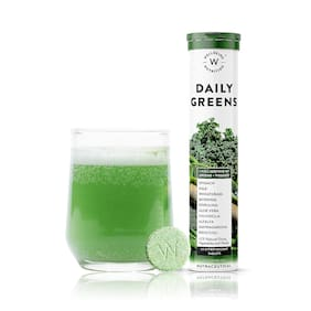 Wellbeing Nutrition Daily Greens with Organic Plant Superfood, Wholefood Multivitamin (15 Tablets)