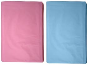 Welo High Quality Water Proof Plastic Bed Protector Sheet Pack of 2