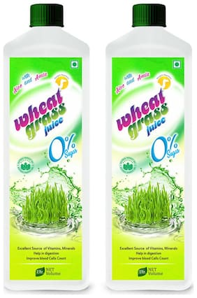 WHEAT GRASS JUICE  (Sugar Free)-1 Ltr. (Pack of 2)