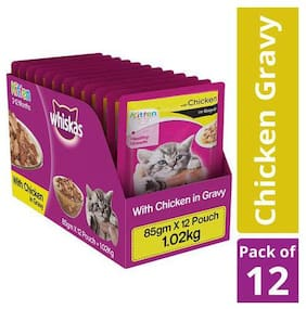 Whiskas Cat Food - Wet  Chicken In Gravy  For Kittens  2-12 Months 1.02 kg