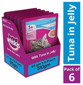 Whiskas Wet cat Food - Tuna in Jelly for Adult cats, +1 year 510