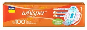Whisper  Choice Sanitary Pads - Regular With Wings 7 pcs