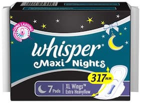 Whisper  Sanitary Pads Maxi Nights XL Wings 7 Pads
