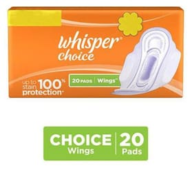 Whisper Sanitary Pads Choice Wings Regular 20 Pcs