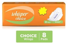 Whisper Sanitary Choice Wings Pads (8 Pads)