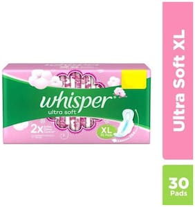 Whisper  Sanitary Pads XL  Ultra Soft 30 pcs
