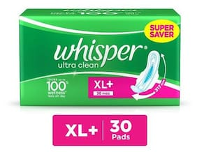 Whisper Sanitary Pads - Ultra Clean XL+ Wings 30 pcs