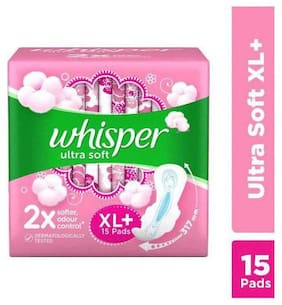 WHISPER ULTRA SOFT 2X SOFTER WINGS XL+ 15'S