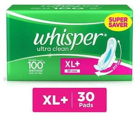 WHISPER ULTRA CLEAN WINGS XL+ 30'S