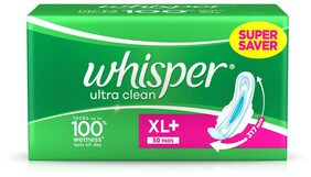 Whisper Ultra Sanitary Pads Extra Large Plus 30 pc Pack