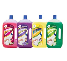WhiteBust Floor Cleaner Citrus 975ml;Lavender 975ml;Floral 975ml & Jasmin 975ml (Pack of 4)